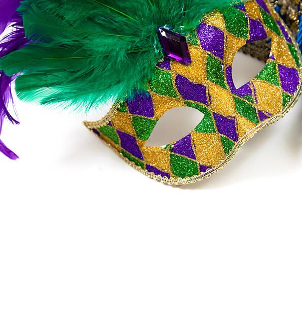 Mardi gras mask on a white background stock photo
