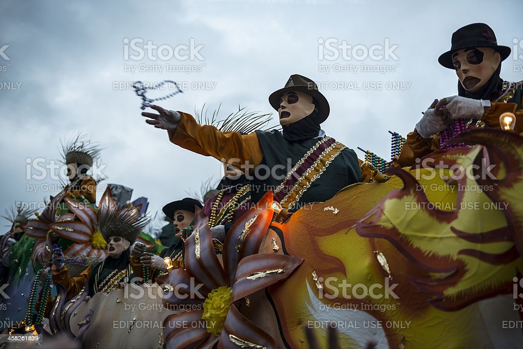 Mardi Gras parade in New Orleans stock photo