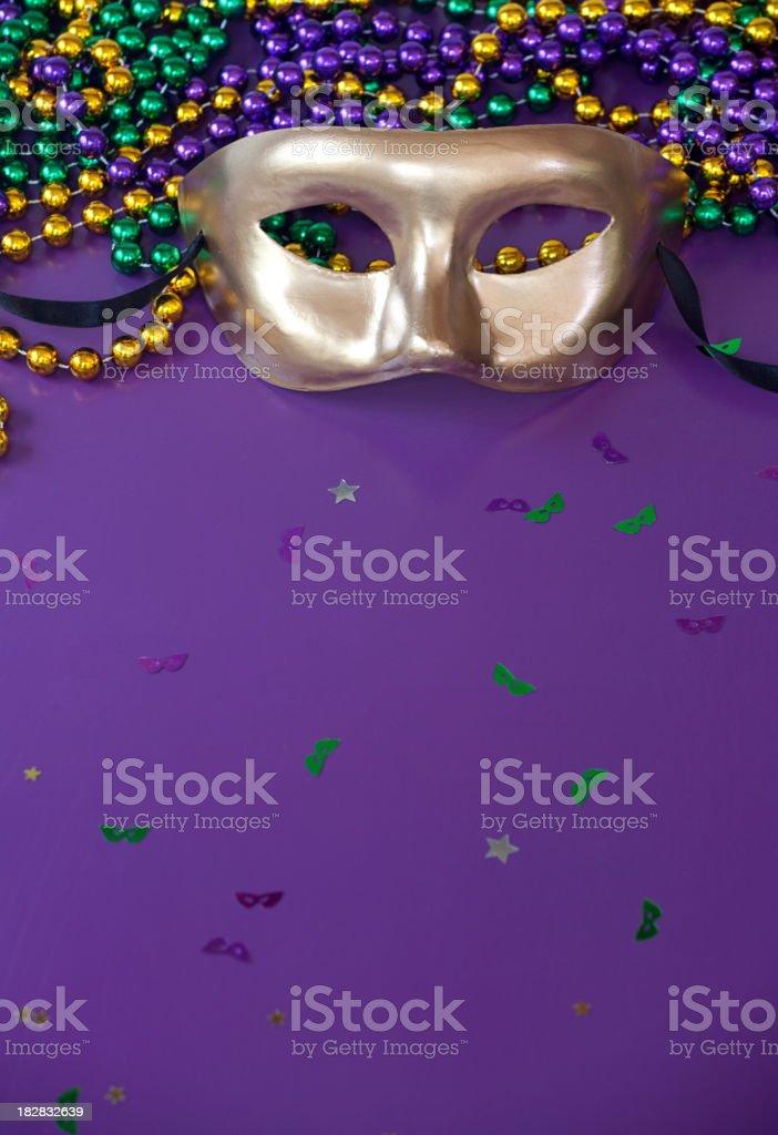 Mardi Gras Purple royalty-free stock photo