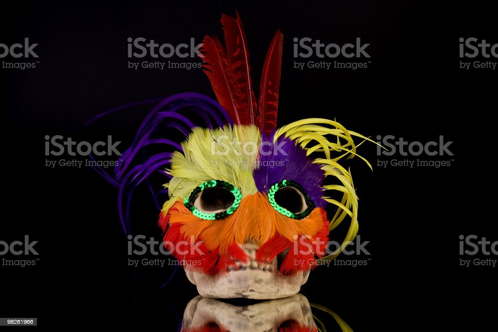 Mardi Gras Skull Mask royalty-free stock photo