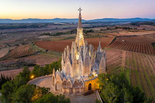 Mare de Deu de Montserrat sanctuary in Montferri, Catalonia, Spain