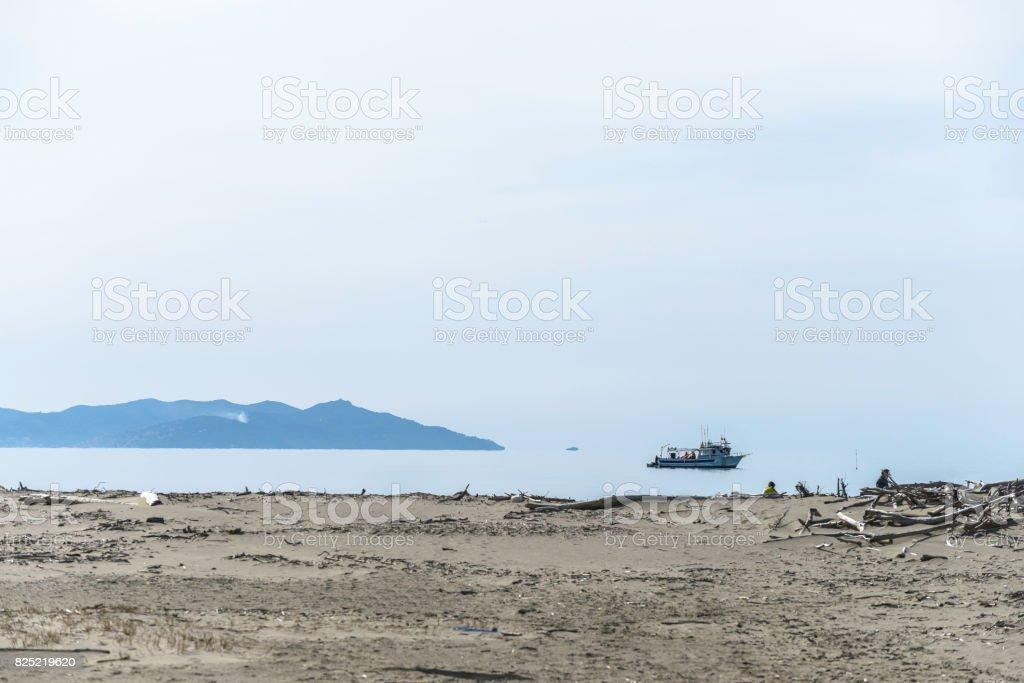 Maremma Park beach stock photo