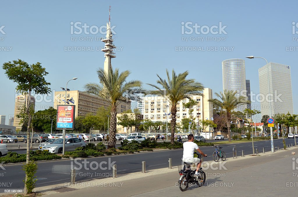 Marganit Tower in HaKirya Tel Aviv, Israel stock photo