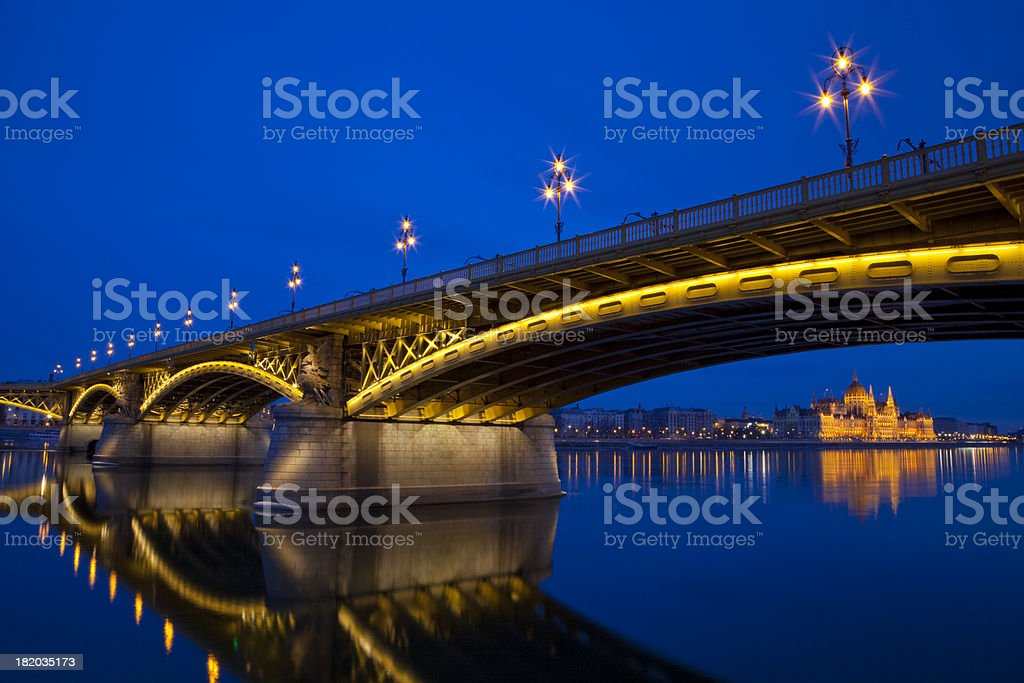 Margaret Bridge and the Parliament royalty-free stock photo
