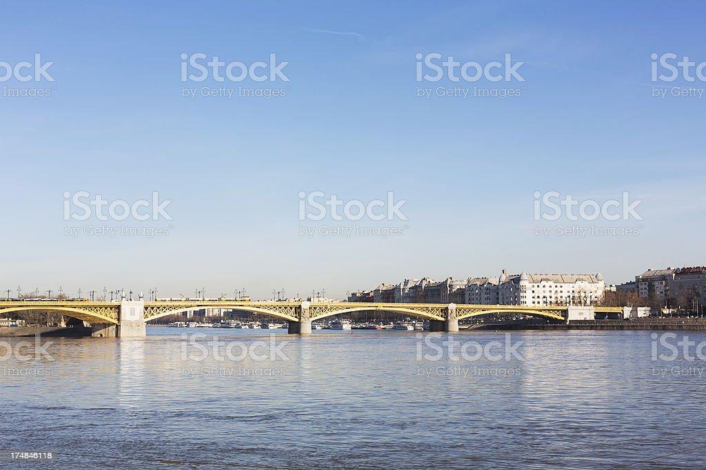 Margaret Bridge Budapest royalty-free stock photo