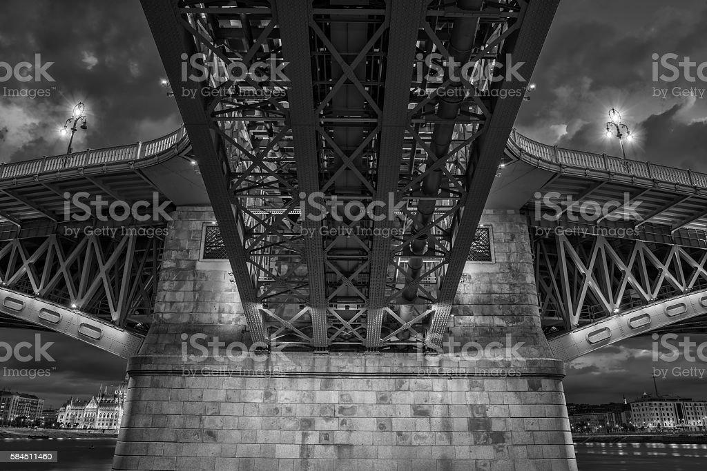 Margaret Bridge in Budapest, Hungary stock photo