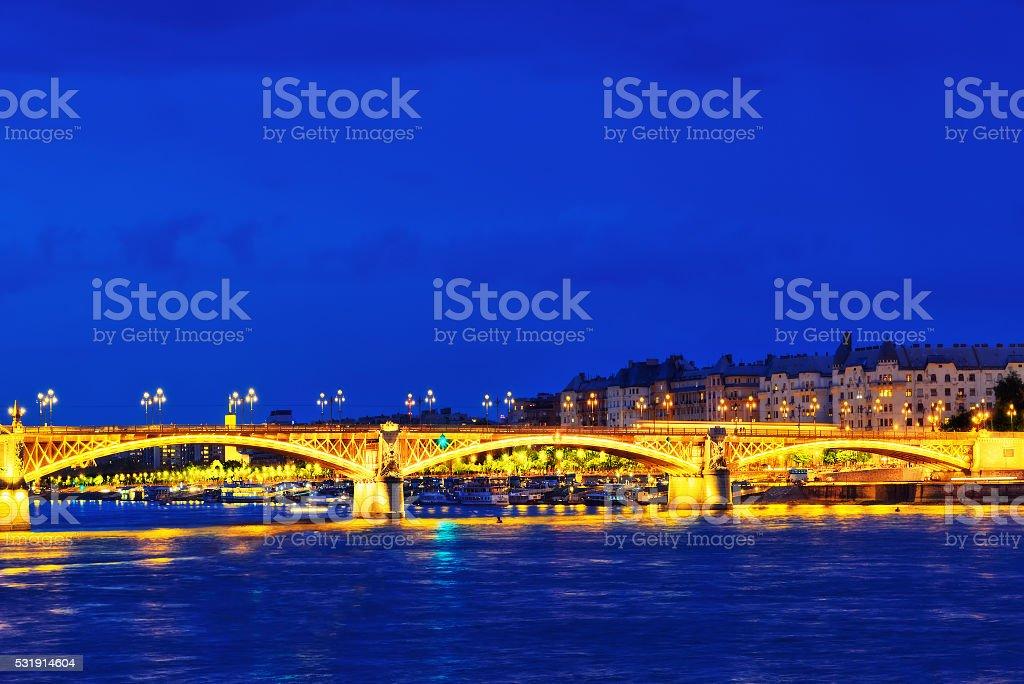 Margaret Bridge (sometimes Margit Bridge) stock photo