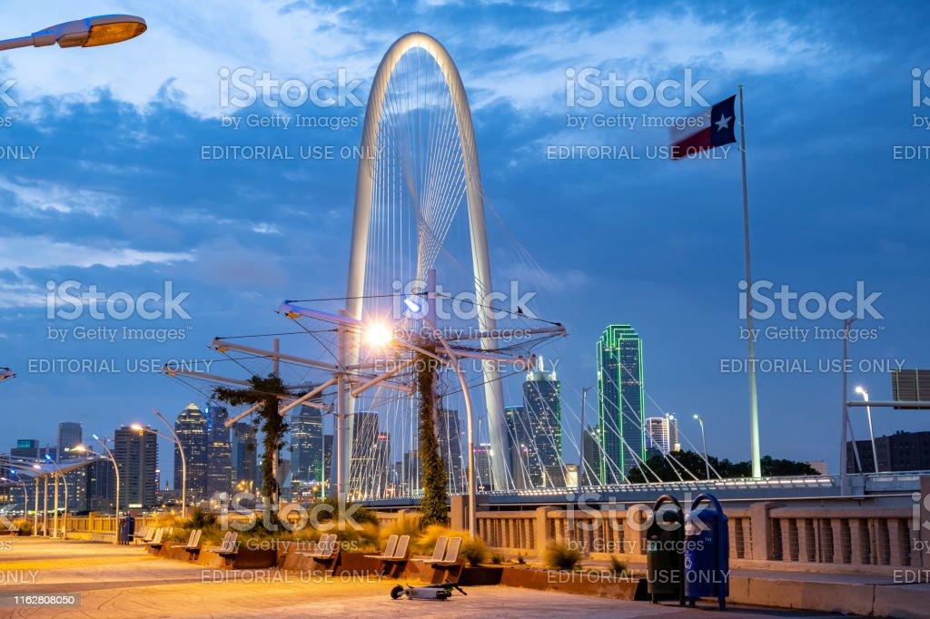 Margaret Hunt Hill Bridge in Dallas Texas that spans the Trinity...