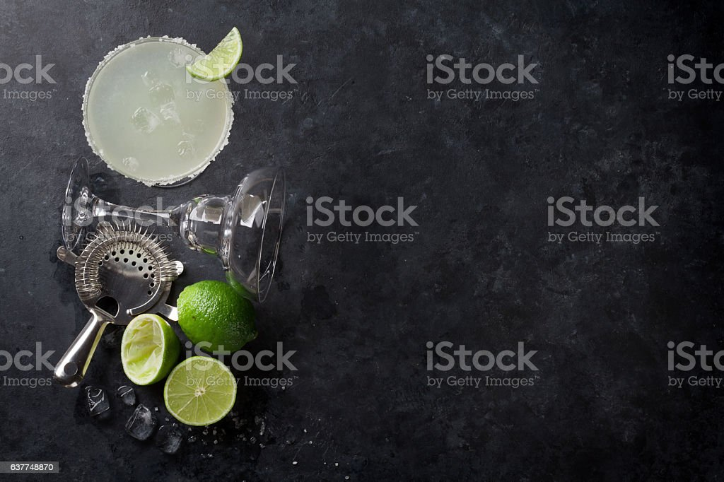 Margarita cocktail stock photo