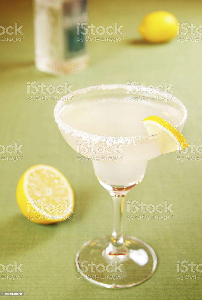Margarita cocktail with lemon royalty-free stock photo