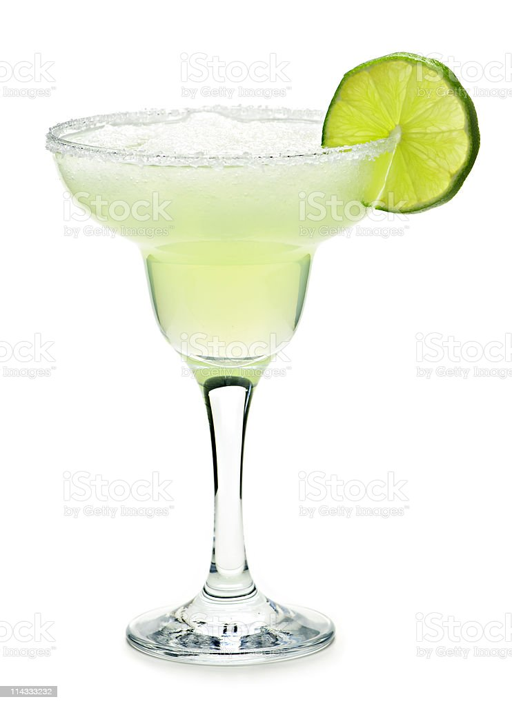 Margarita in a glass stock photo