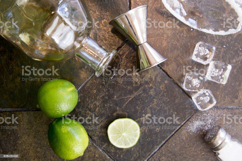 Margarita ingredients on granite stock photo
