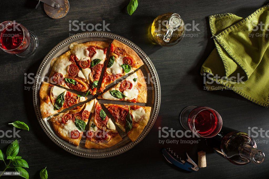 Margarita Pizza stock photo