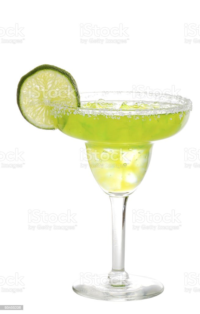 margarita with a slice of lime stock photo