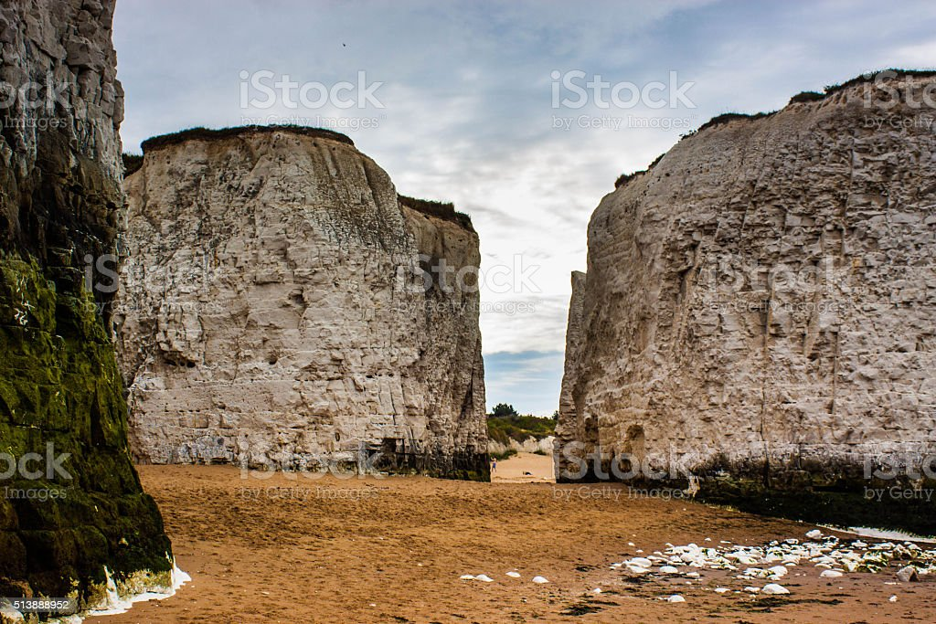 Margate Cliffs with Cloud stock photo
