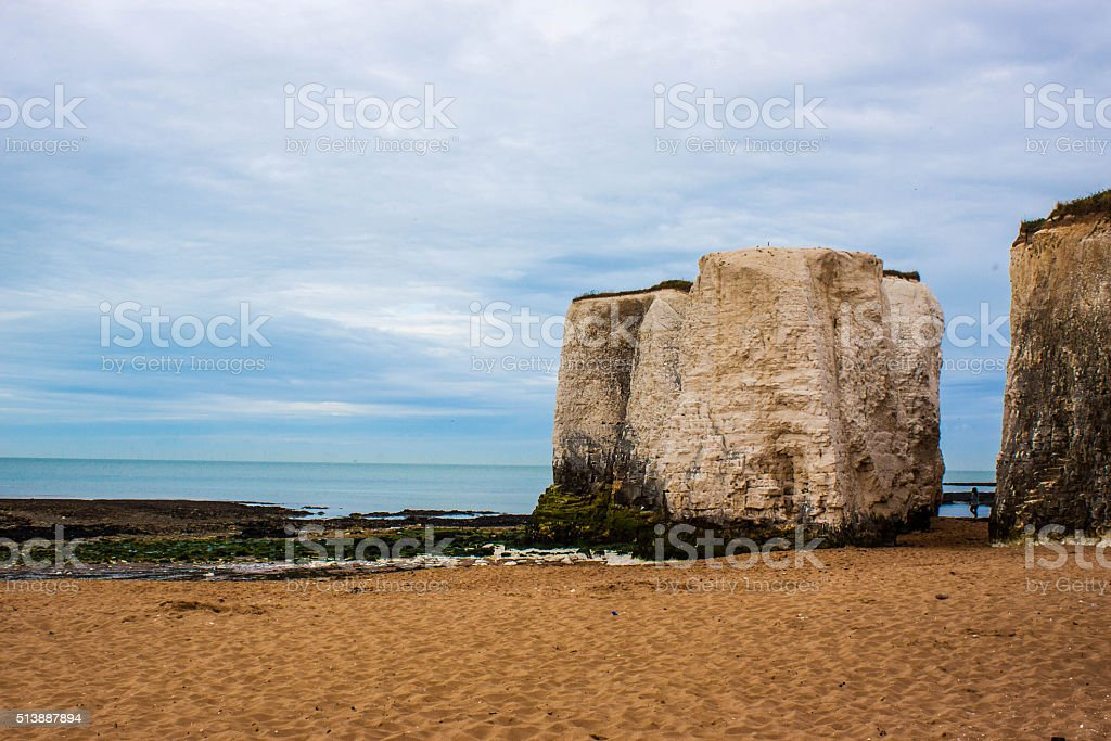Margate Cliffs with Silhouette stock photo