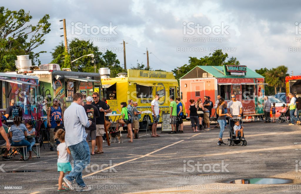 Margate, FL, USA, October 14th, 2017: Food truck festival stock photo