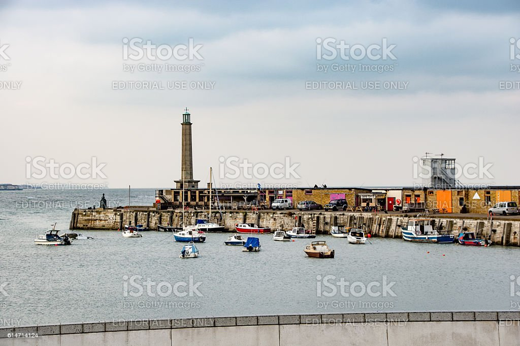 Margate Habour and Lighthouse stock photo