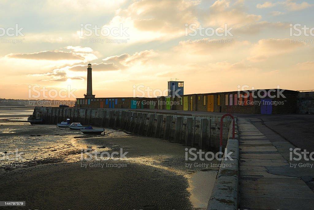 Margate Harbor stock photo