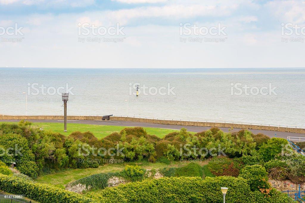 Margate Public Park and Sea stock photo