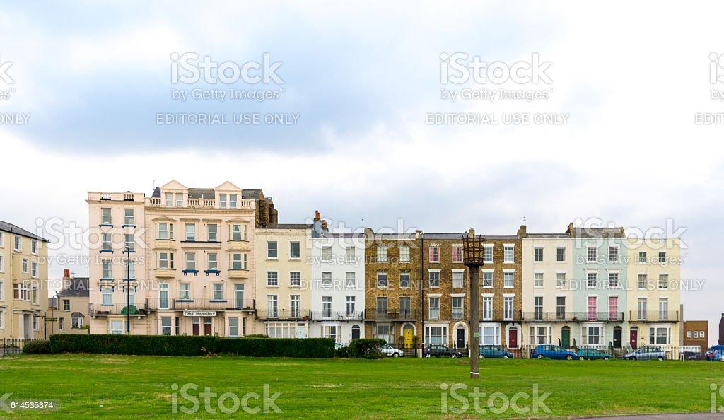 Margate Terraced Houses in Kent, UK stock photo
