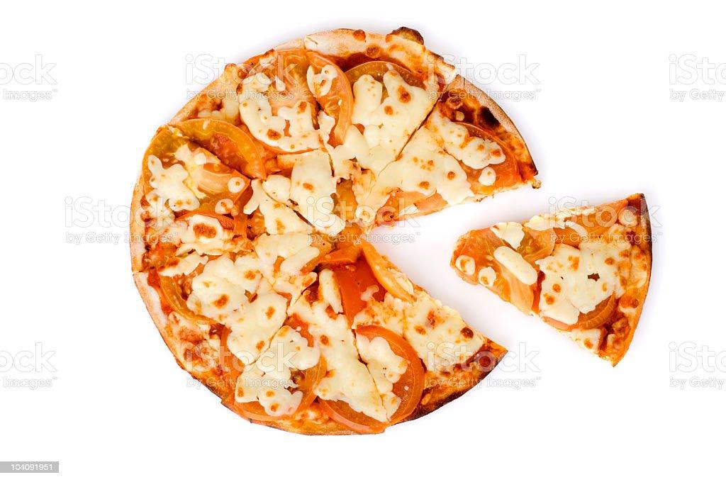 Margharita Pizza and Slice royalty-free stock photo