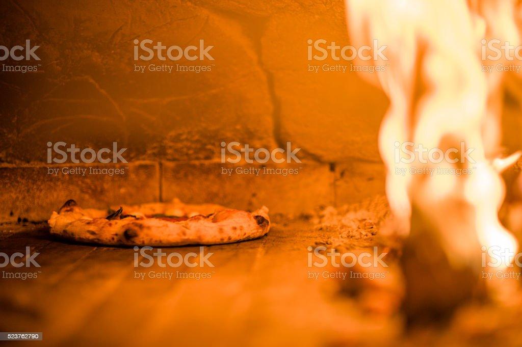 Margharita Pizza wood fire stock photo