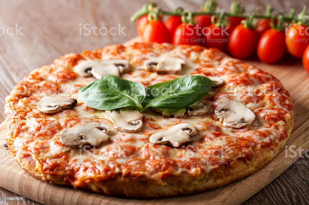 Pizza margherita. royalty-free stock photo