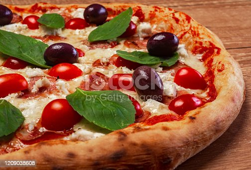 istock Margherita pizza with ricotta 1209038608