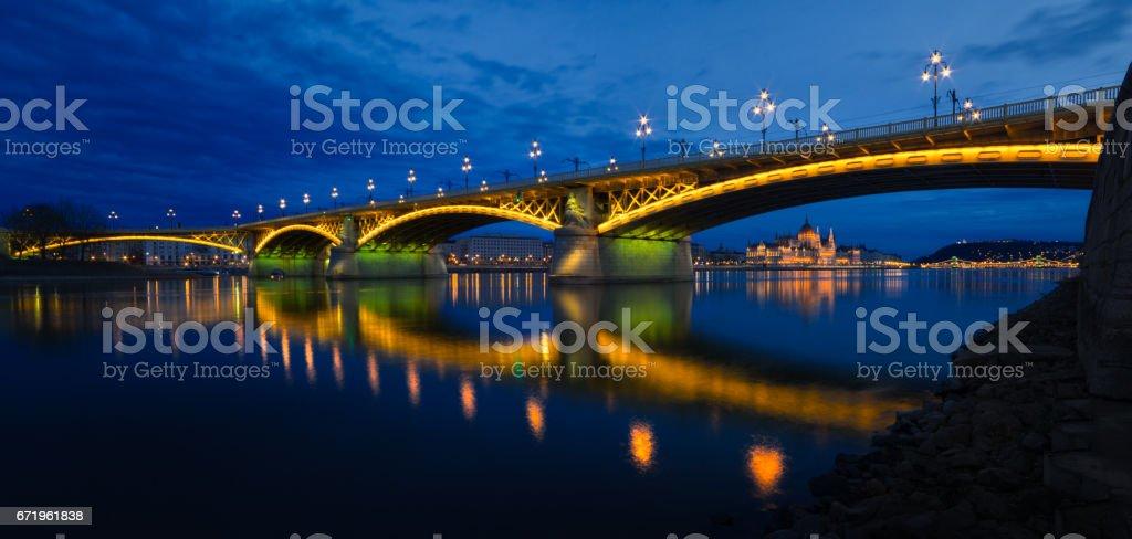 Margit bridge Budapest stock photo