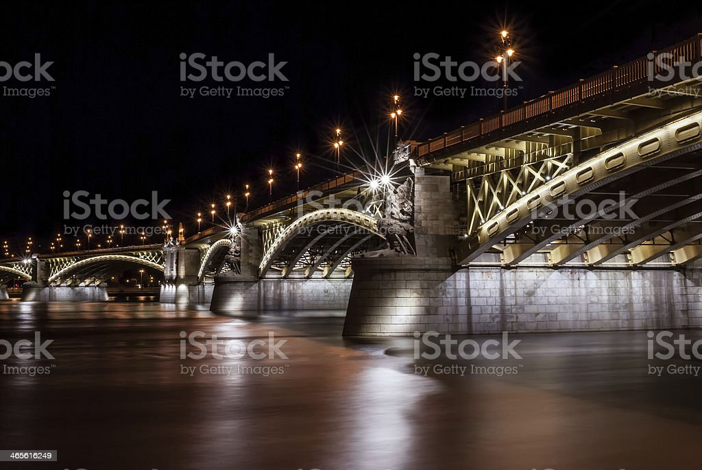 Margit bridge in Budapest stock photo
