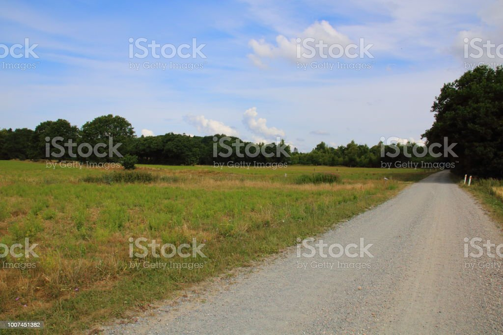 Margrethe dige rampart on Hærvejen the army road pilgrim route stock photo