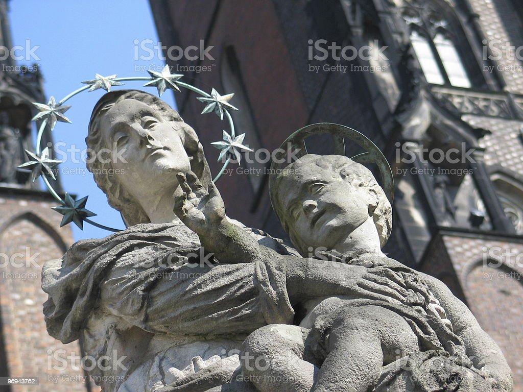 Maria & Child Jesus statue royalty-free stock photo