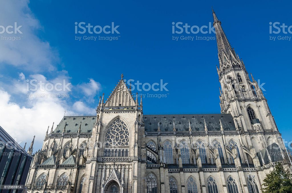 Maria-Empfängnis-Dom in Linz stock photo