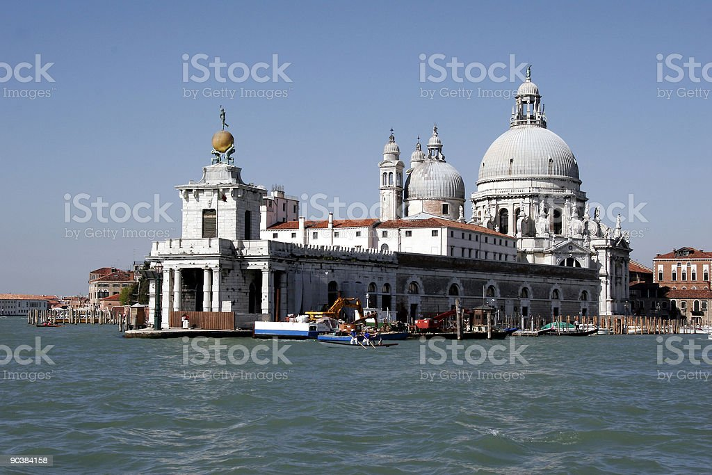 S. Maria d. Salute from seasight royalty-free stock photo