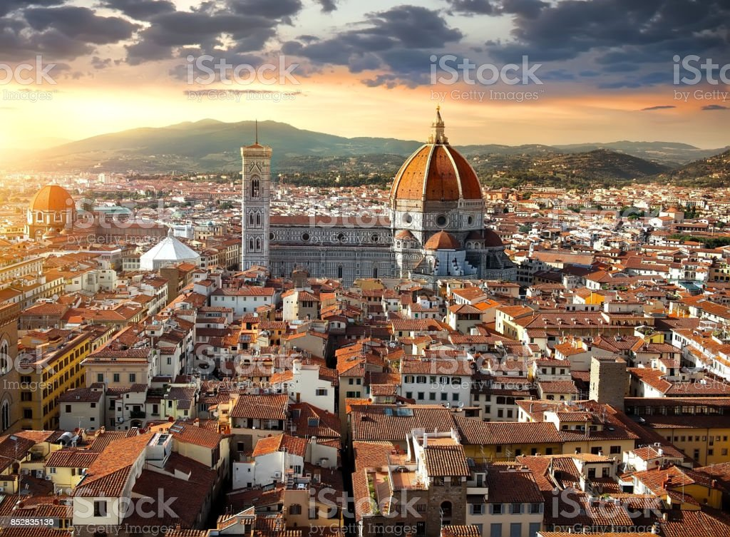 Maria del Fiore in Florence stock photo