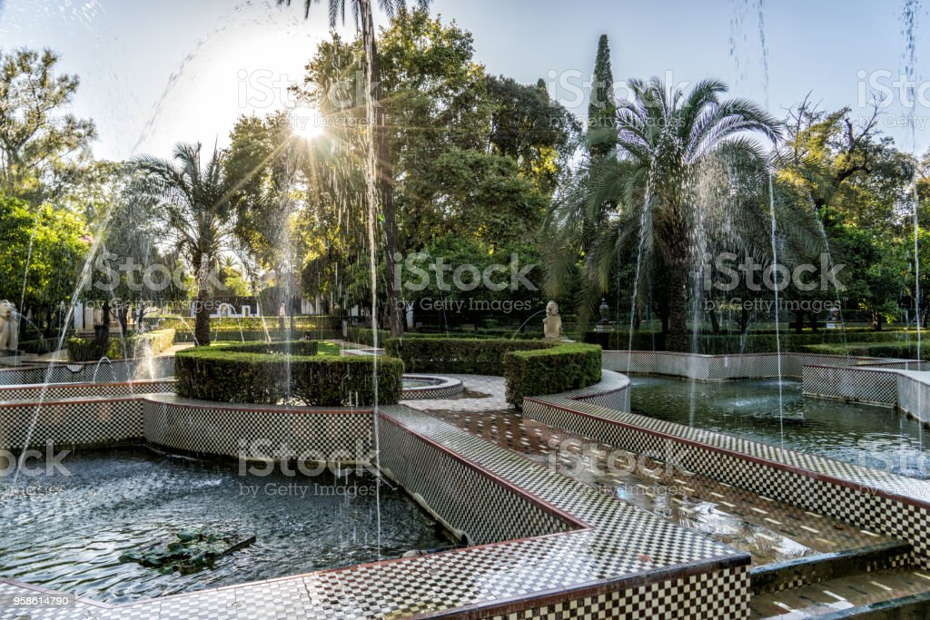 Maria Luisa Park (Parque de María Luisa) Seville (Sevilla) Spain stock photo