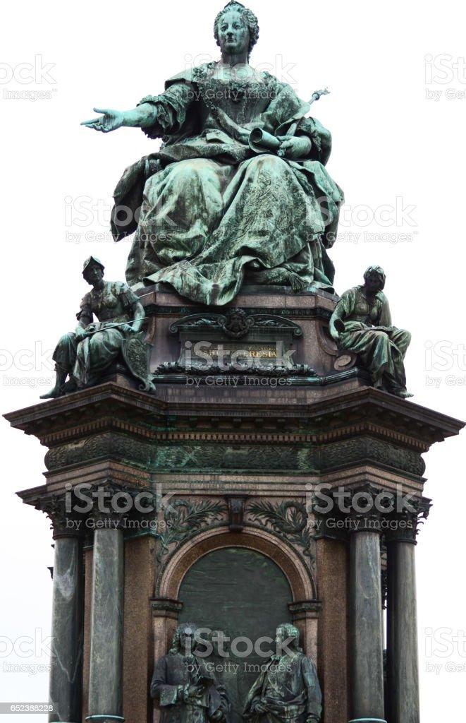 Maria Theresa Monument in Vienna Austria stock photo
