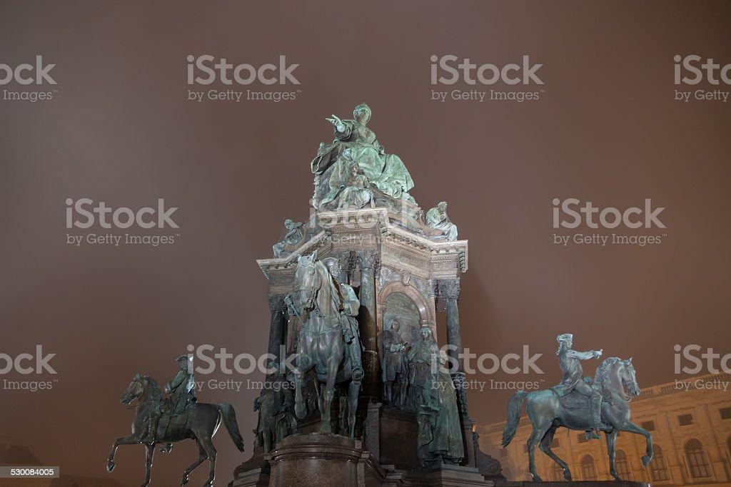 Maria Theresa Monument, Vienna stock photo