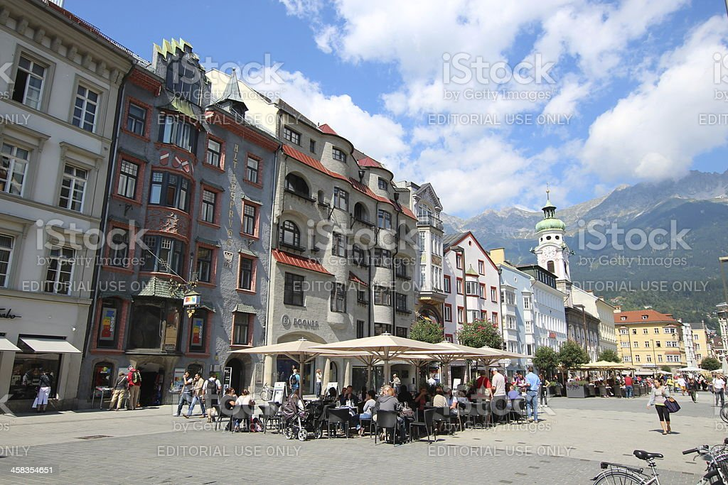 Maria Theresien Strasse, City Centre Innsbruck, Austria stock photo