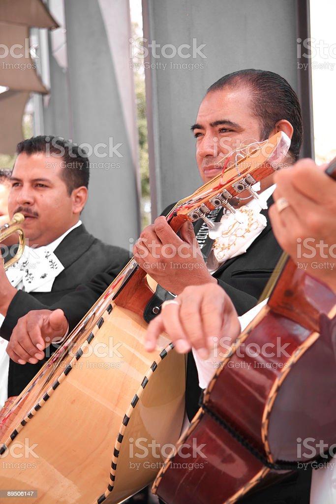 mariachi band  bass and guitar royalty-free stock photo