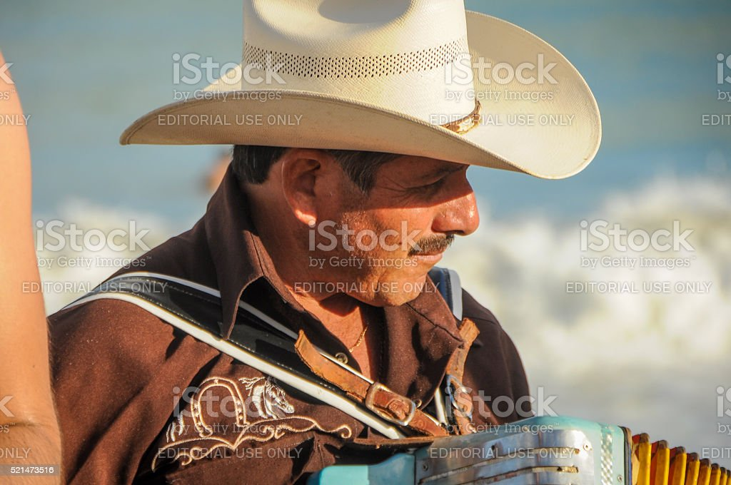 Mariachi plays accordion stock photo
