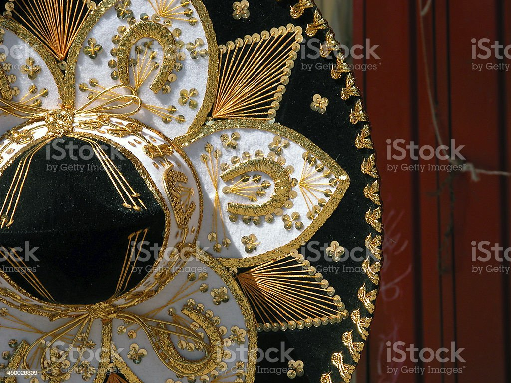 Mariachi sombrero hat stock photo