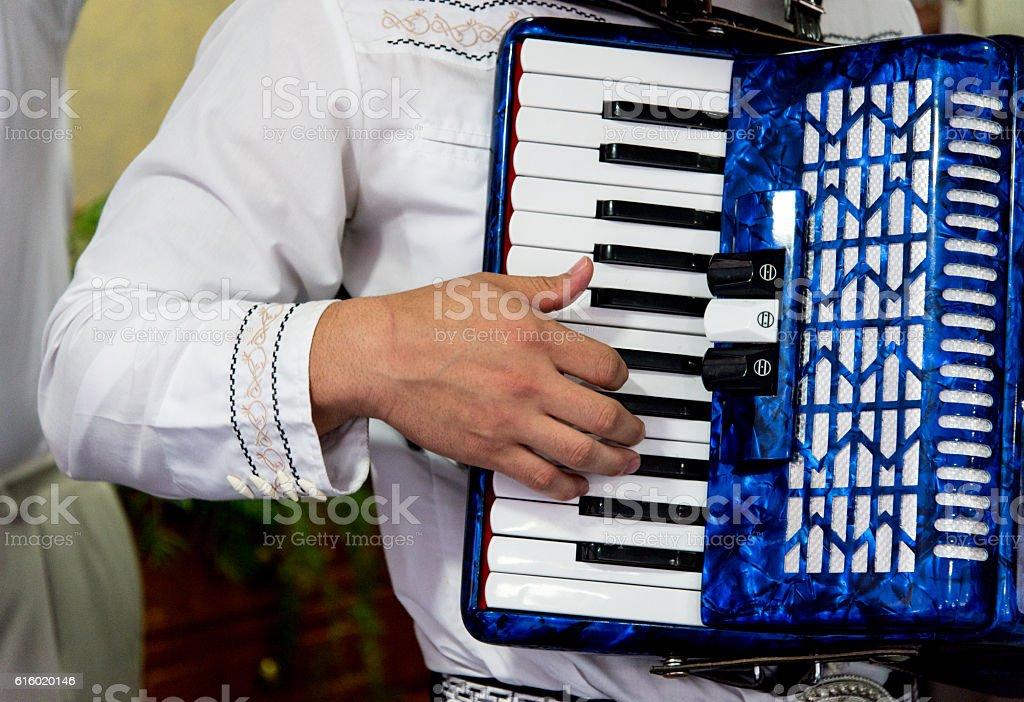 Mariachi tocando acordeon - foto de acervo