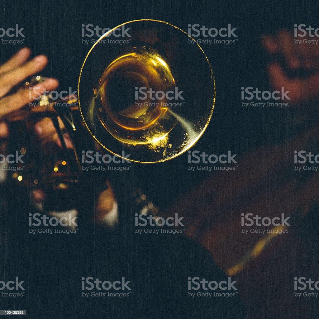 mariachi trumpet detail stock photo