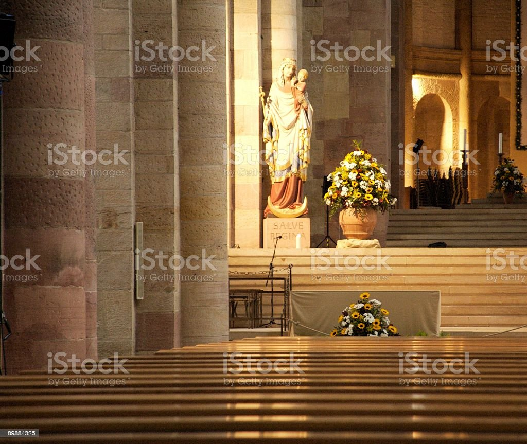 Mariah in Speyer Cathedral royalty-free stock photo