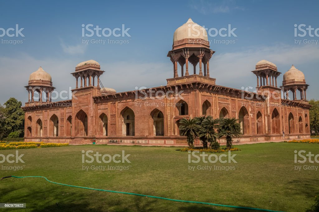 Mariam tomb also known as the tomb of Mariam-uz-Zamani at Sikandra is an intricate piece of Mughal architecture in India. stock photo