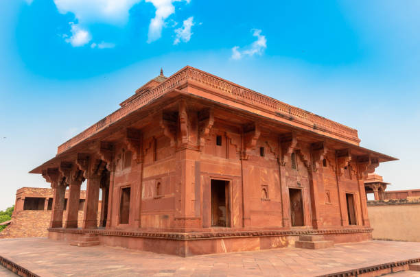 Mariam-uz-Zamani House Mariam-uz-Zamani House at Fatehpur Sikri ,a town in the Agra District of Uttar Pradesh, India. jodha bai's palace stock pictures, royalty-free photos & images
