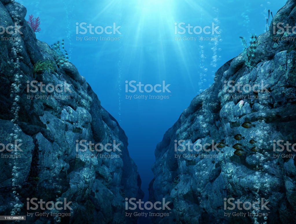 Mariana Trench - The Deepest Depths - Foto stock royalty-free di Acqua