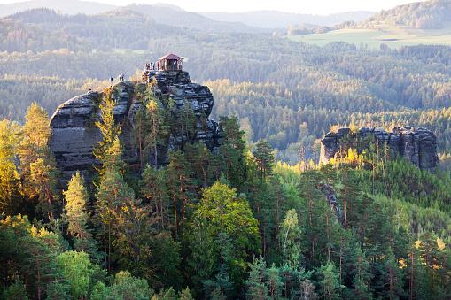 istock Marianina lookout from Vilemina view point, Jetrichovice region, Czech Switzerland, Czech republic 1051032150